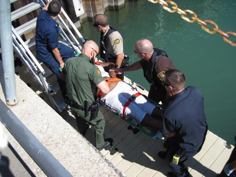 U.S. Border Patrol agents assisted local county sheriffs in the rescue of a woman from the Detroit River