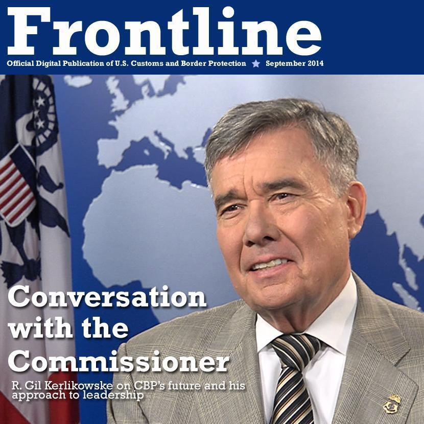 Photo illustration of CBP Commissioner R. Gil Kerlikowske