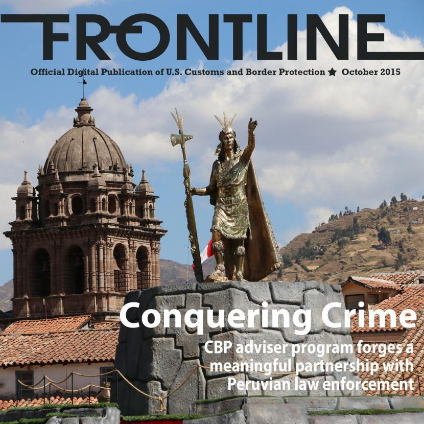 Frontline Cover Image with he headline reading Conquering Crime