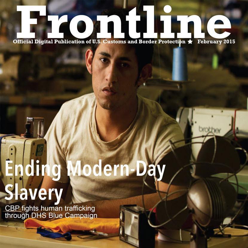 "Magazine cover titled ""Ending Modern-Day Slavery"""
