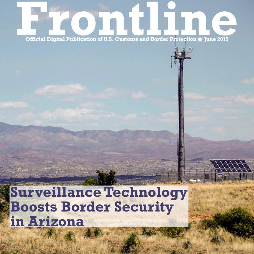 Photo of Border Patrol surveillance technology on the Southwest border