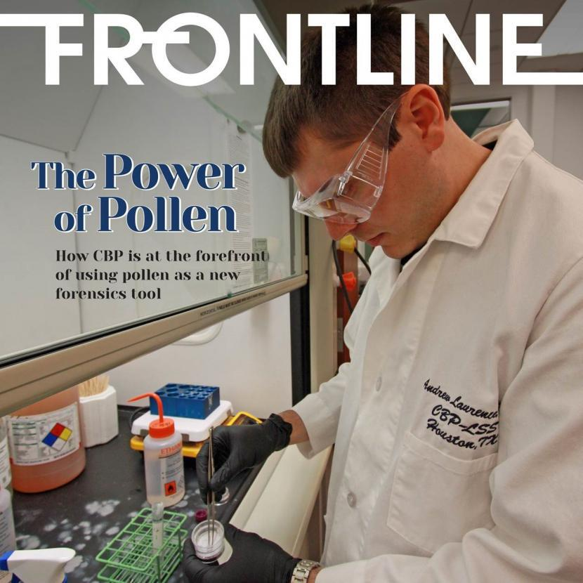 Frontline cover photo of CBP pollen scientist