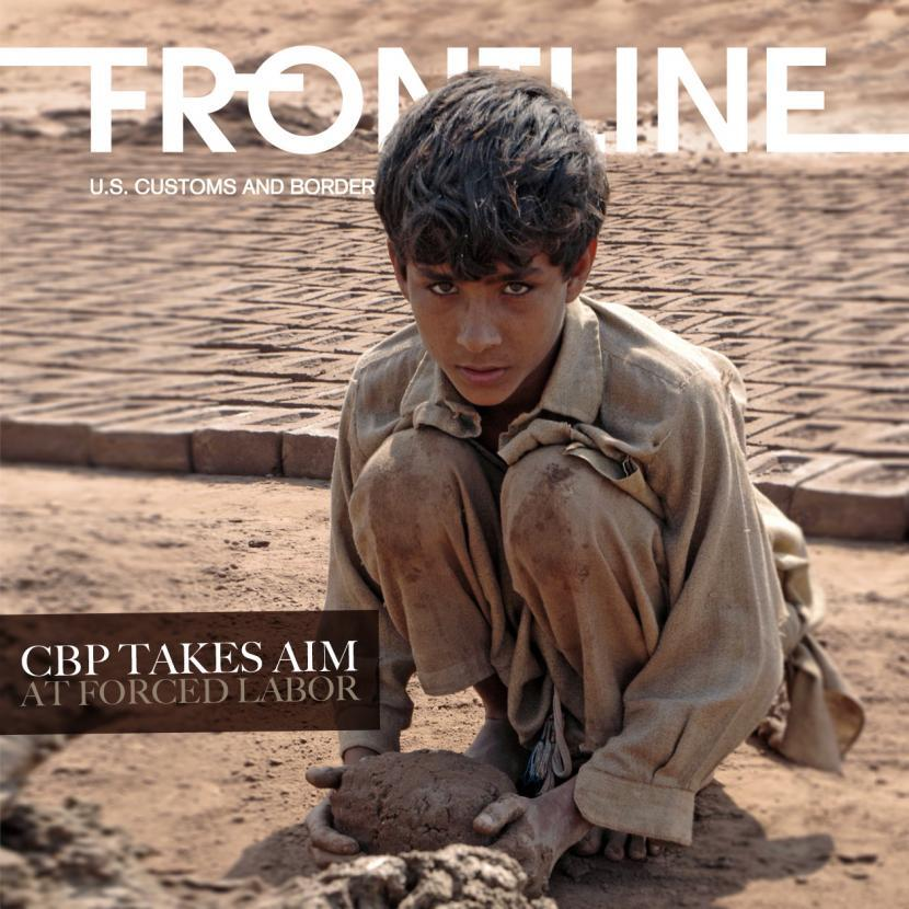 A child works in a brickyard near Islamabad, Pakistan