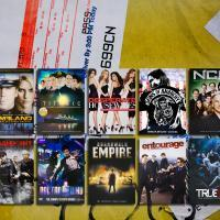 Photo of various DVDs representing the market for fraudulent entertainment