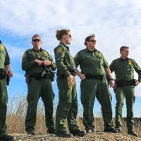 Border Patrol Carla Provost looks out over an area where the primary border barrier replacement will be placed Imperial Beach