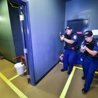 CBP officers in active shooter training