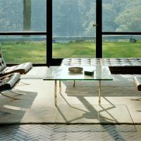 Knoll Glass House showcasing Barcelona Furniture Collection