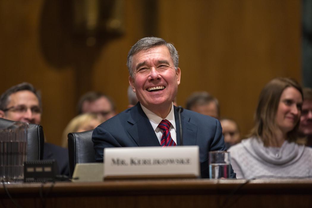 Photo of Commissioner Kerlikowske at a 2014 Senate nomination hearing