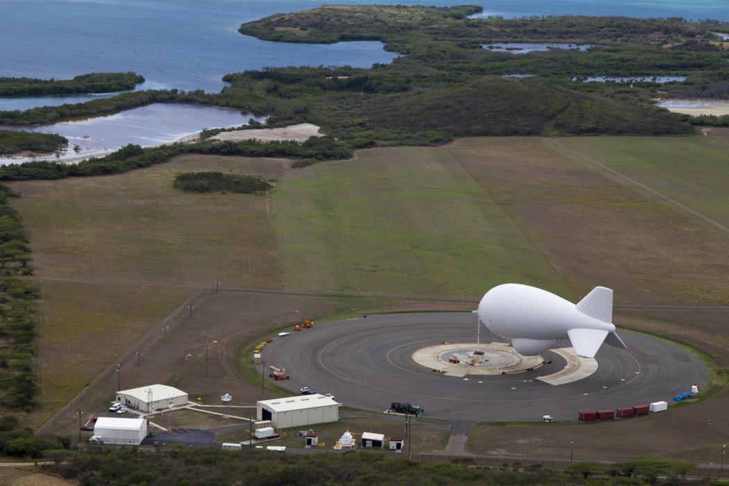 Photo of a CBP aerostat in Lajas, Puerto Rico