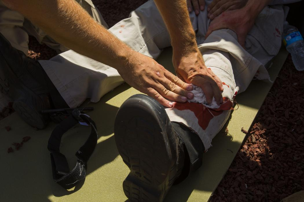 Photo of first-aid training