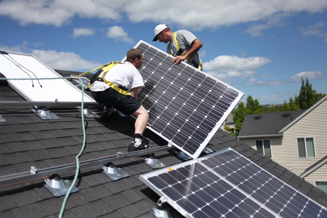 Photo of solar panel installation in Oregon
