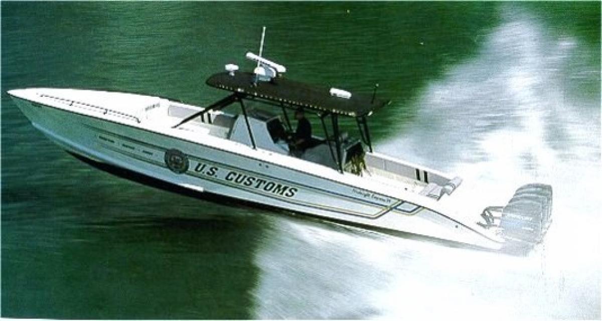 Legacy U.S. Customs 35-foot interceptor class Midnight Express vessel