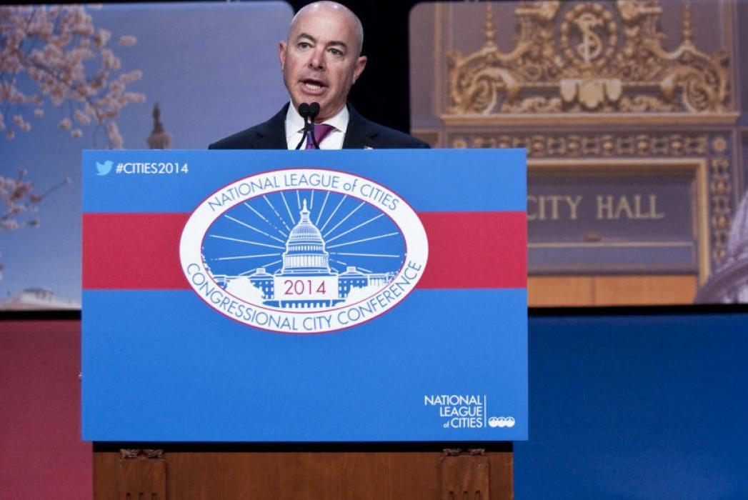 Photo of DHS Deputy Secretary Alejandro Mayorkas speaking