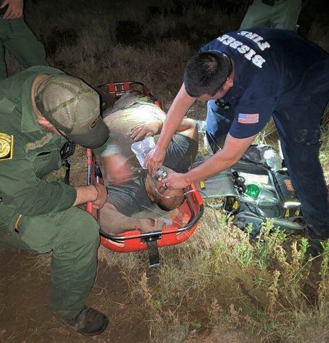 Border Patrol rescues a man