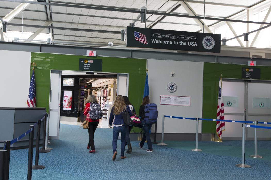 Photo of the CBP preclearance area in Vancouver