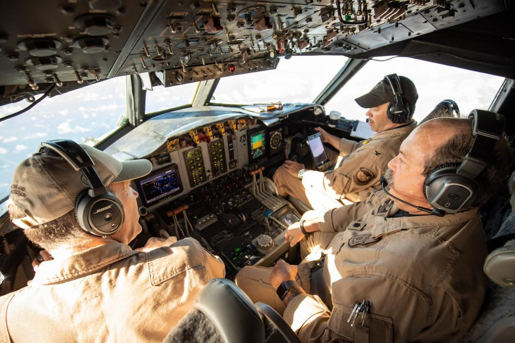 Aircrew in cockpit