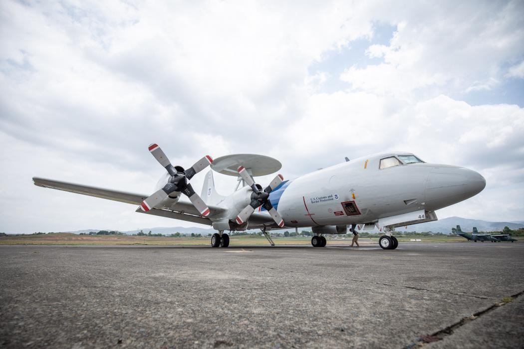 P-3 on ground