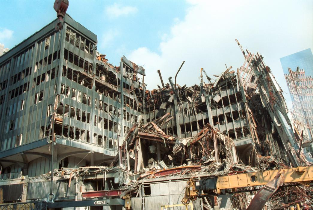 U.S. Customs Building severely damaged in 9/11 attacks