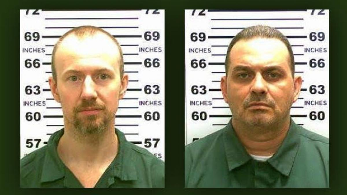 Photo of prison escapees David Sweat and Richard Matt