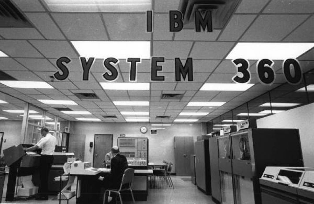 Photo of an IBM system 360 computer at Miami-Dade Junior College