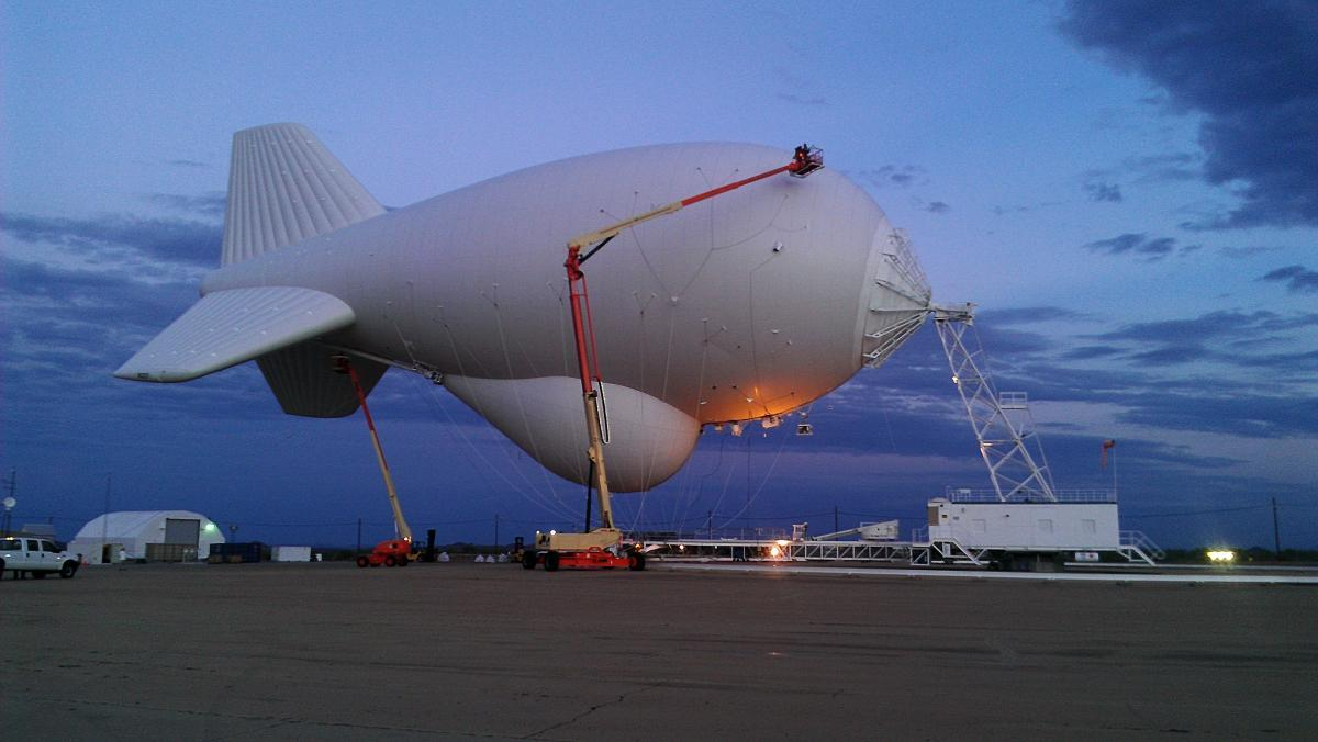 CBP's tethered aerostats on the lookout for trouble at 10,000 feet Photo of a tethered aerostat