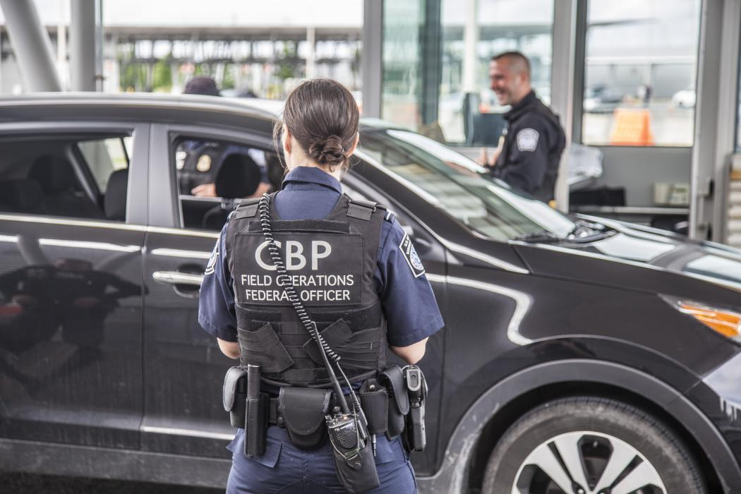 Photo of CBP officers at the Port of Champlain