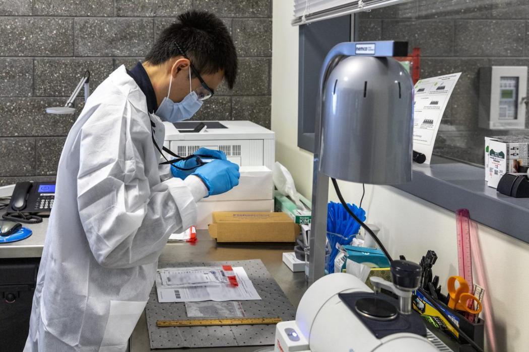 CBP scientist tests unknown substance