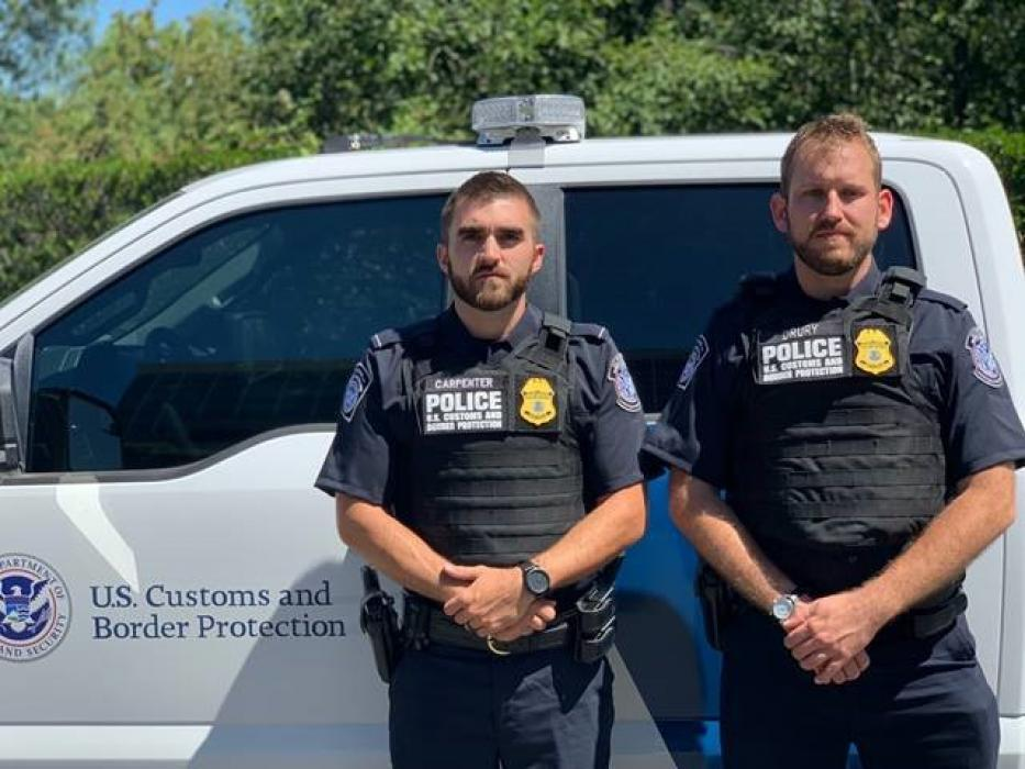 CBP Officers Robert Carpenter and Ian Drury