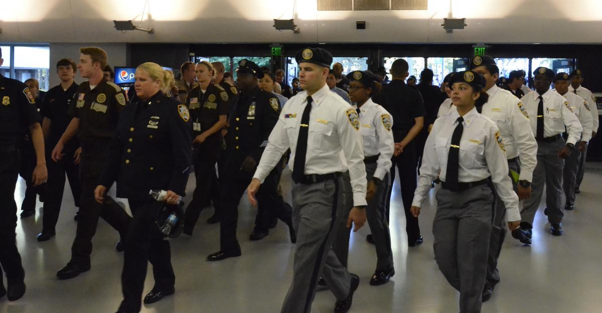 Explorers stay sharp and march in formation