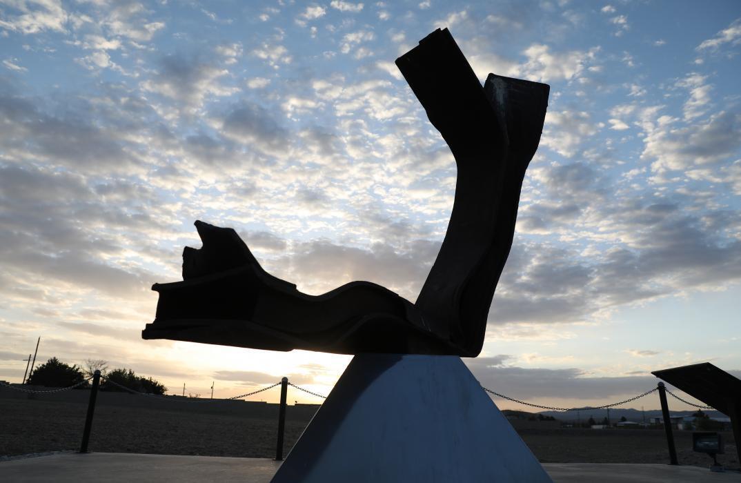 Sept. 11, 2001 memorial at Alpine Border Patrol Station in Texas