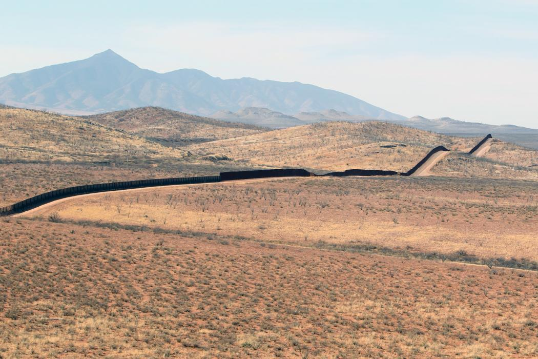 Photo of the United State's Southwest border