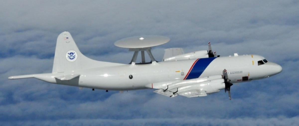 P-3 in flight