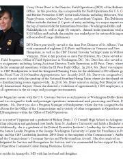 CBP DFO Casey Owen Durst bio
