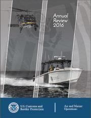 Air and Marine Operations 2016 Annual Review