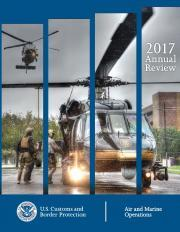 Air and Marine Operations 2017 Annual Review