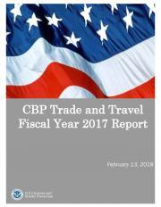 CBP FY17 trade and travel cover sheet