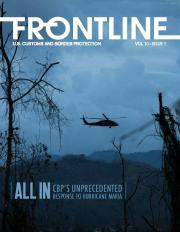 Frontline cover of an AMO helicopter over Puerto Rico