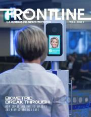 Frontline cover of passenger going through a biometric exit gate