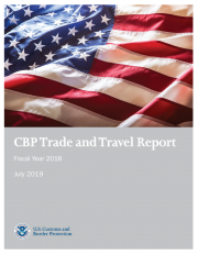 Cover of CBP Trade and Travel Report FY18