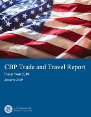 Cover page of the FY 2019 Trade and Travel Report