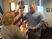 CBP Officer sworn in at Buffalo, NY in February 2020