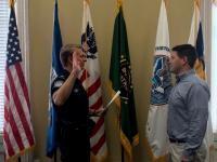 CBP Officer sworn in at Charleston, SC in February 2020