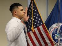CBP Officer sworn in at Newark, NJ in February 2020