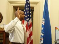 CBP Officer sworn in at Norfolk, VA in February 2020