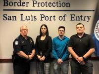 CBP Officers sworn in at San Luis, AZ in February 2020