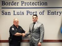 CBP Officer sworn in at San Luis, AZ in February 2020
