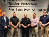 CBP Officers sworn in at San Luis, AZ in January 2020