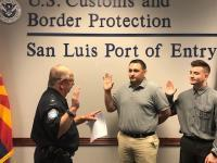 Two CBP Officers Sworn in at San Luis Field Office