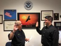 CBP Agriculture Specialist Sworn in at San Luis Field Office