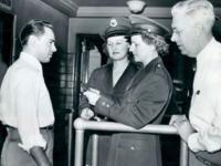 Ann Stankun and Louise Boer, the first women to serve as immigrant inspectors